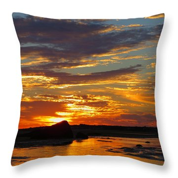 Sunrise Magic Throw Pillow by Dianne Cowen