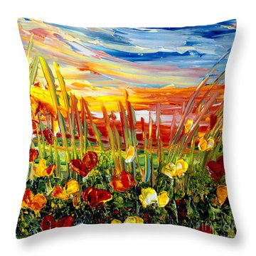 Sunrise Meadow   Throw Pillow