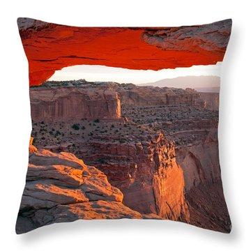 Sunrise Mesa Arch Canyonlands National Park Throw Pillow