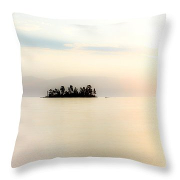 Sunrise Mist Throw Pillow by Aaron Aldrich
