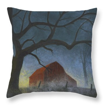 Sunrise Mist Throw Pillow by Garry McMichael