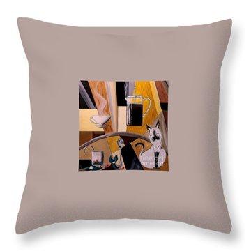 Sunrise Morning Ritual Throw Pillow by John Lyes