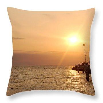 Sunrise Ocean Throw Pillow by Michal Bednarek