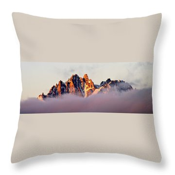 Sunrise On An Island In The Sky Throw Pillow