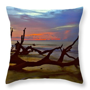 Sunrise On Bulls Island Throw Pillow