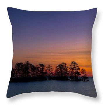 Sunrise On Lake Mattamuskeet Throw Pillow