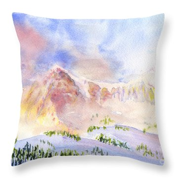Sunrise On Mount Ogden Throw Pillow