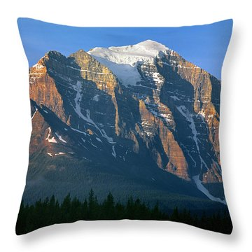 1m3518-sunrise On Mt. Temple Throw Pillow
