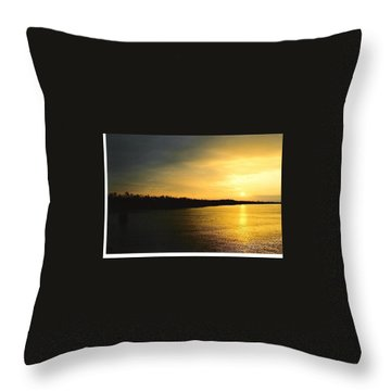Throw Pillow featuring the photograph Sunrise On Ole Man River by Michael Hoard