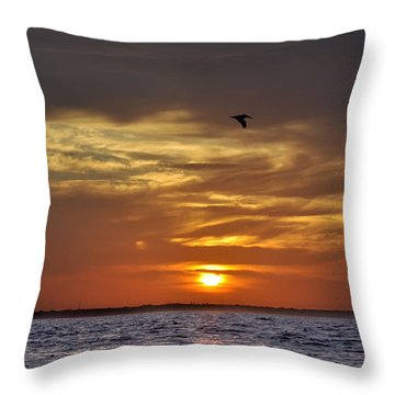 Sunrise On Tampa Bay Throw Pillow by Bill Cannon