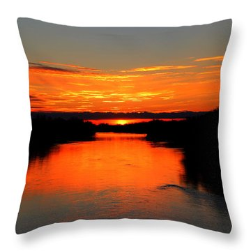 Sunrise On The Assiniboine Throw Pillow