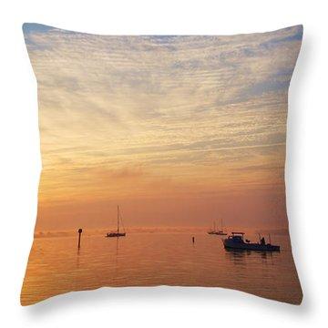 Sunrise On The Chesapeake Bay Throw Pillow