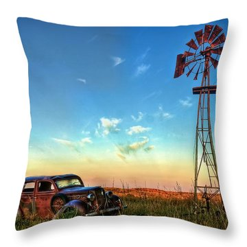 Throw Pillow featuring the photograph Sunrise On The Farm by Ken Smith