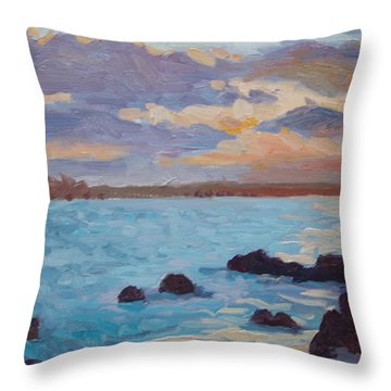Sunrise On The Grotto Throw Pillow by Dianne Panarelli Miller