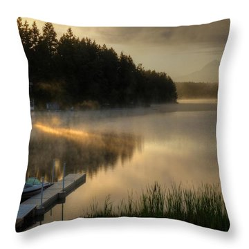 Sunrise On The Lake Throw Pillow
