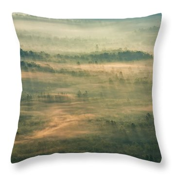 Sunrise On The Parkway - Blue Ridge Parkway - Asheville - North Carolina Throw Pillow by Photography  By Sai