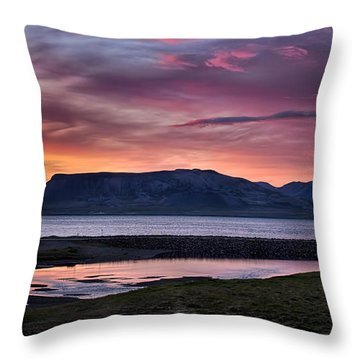 Sunrise On The Snaefellsnes Peninsula In Iceland Throw Pillow