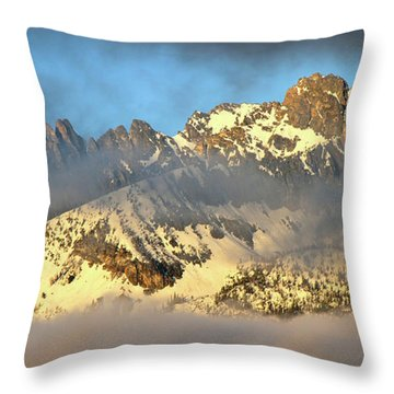 Sunrise On Thompson Peak Throw Pillow by Ed  Riche