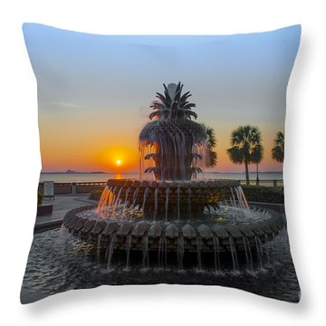 Sunrise Over Charleston Throw Pillow