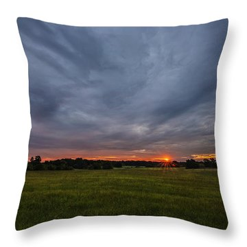 Sunrise Over East Texas Field Throw Pillow