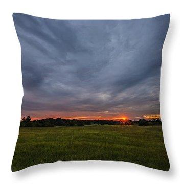 Sunrise Over East Texas Field Throw Pillow