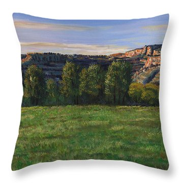 Sunrise Over Farmington Bluffs Throw Pillow
