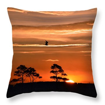 Sunrise Over Fenwick Island Throw Pillow