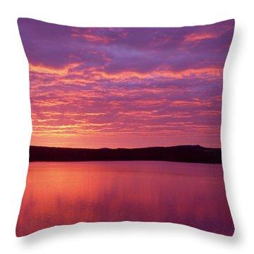 Sunrise Over Grand Lake Matagamon Throw Pillow