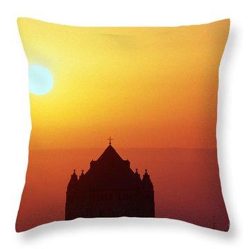 Sunrise Over Jerusalem Throw Pillow by Thomas R Fletcher