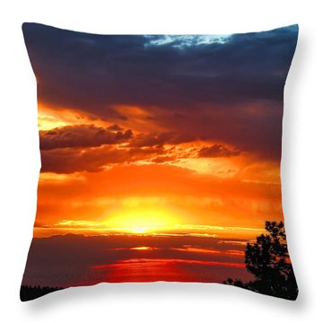 Sunrise Over Keystone Throw Pillow