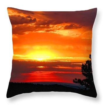 Sunrise Over Keystone Throw Pillow