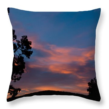 Sunrise Over Mammoth Campground Throw Pillow