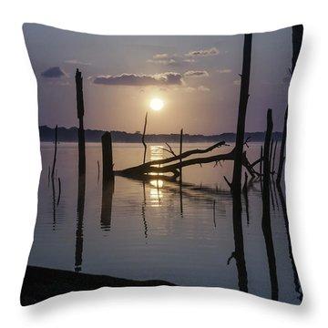 Sunrise Over Manasquan Reservoir Throw Pillow
