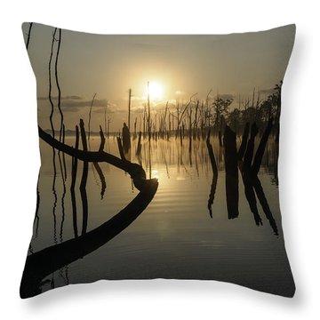 Sunrise Over Manasquan Reservoir II Throw Pillow