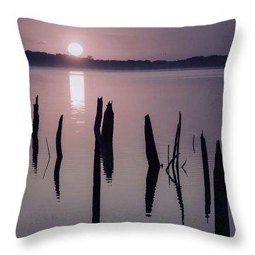 Sunrise Over Manasquan Reservoir Iv Throw Pillow