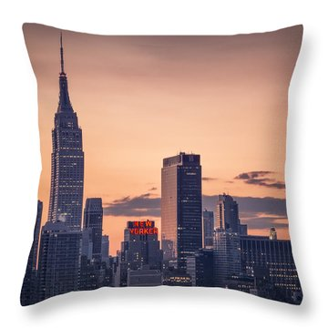 Manhattan Sunrise Throw Pillow