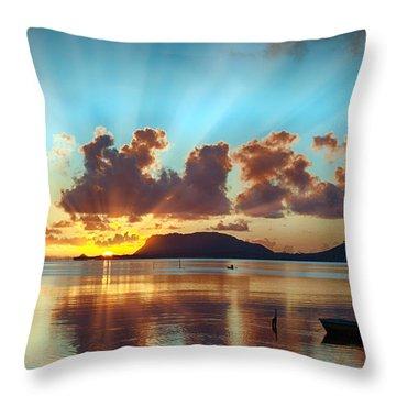 Sunrise Over Marine Corps Base Hawaii Throw Pillow