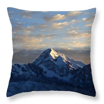 Sunrise Over Mt Huayna Potosi Throw Pillow