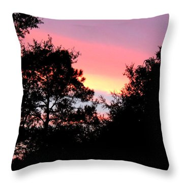 Sunrise Over Perry Throw Pillow