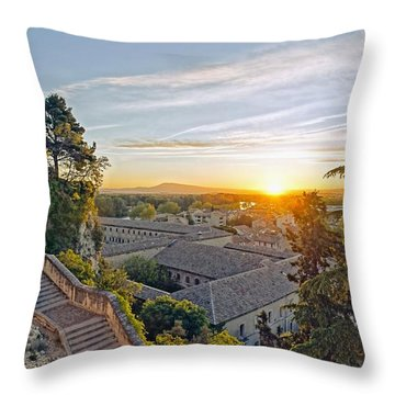 Sunrise Over Provence Throw Pillow
