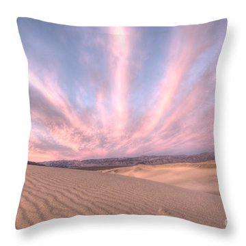 Sunrise Over Sand Dunes Throw Pillow