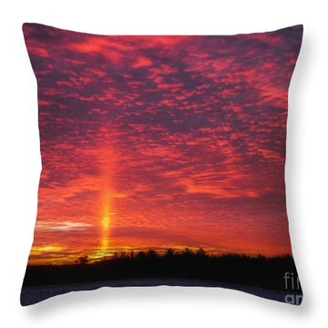 Throw Pillow featuring the photograph Sunrise Over Scandinavia by Trey Foerster