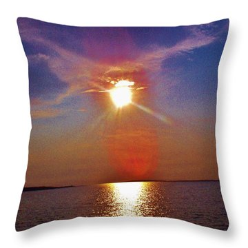 Throw Pillow featuring the photograph Sunrise Over The Big Mac by Daniel Thompson