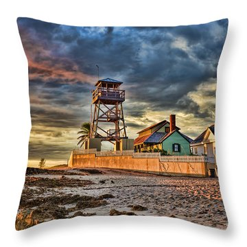 Sunrise Over The House Of Refuge On Hutchinson Island Throw Pillow