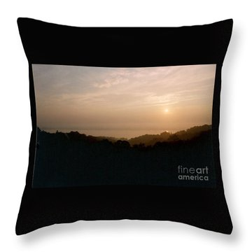 Sunrise Over The Illinois River Valley Throw Pillow