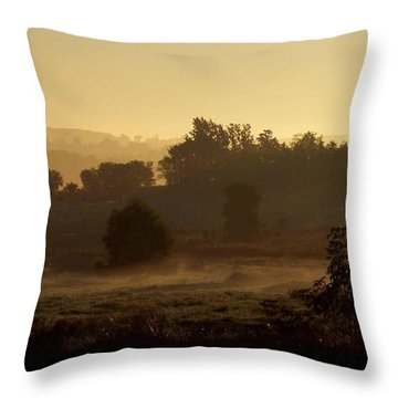 Sunrise Over The Mist Throw Pillow