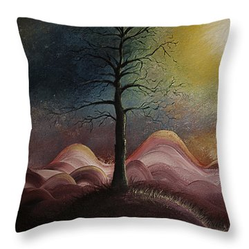 Sunrise Over The Mountains Throw Pillow by Gray  Artus
