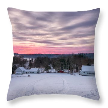 Sunrise Over The Village Throw Pillow
