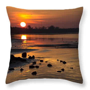 Throw Pillow featuring the photograph Sunrise Photograph by Meg Rousher