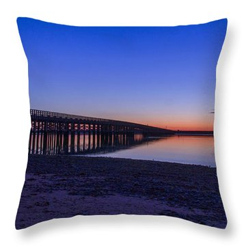 Sunrise Pier Throw Pillow